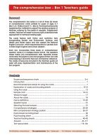 The Comprehension Box Teachers Guide - Box 1 - Page 3