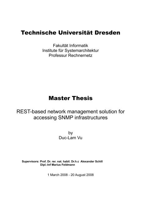 Master thesis in computer