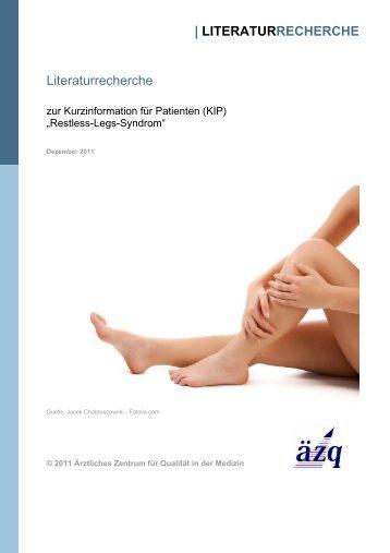 """Literaturrecherche zur KiP """"Restless-Legs-Syndrom"""" - Patienten ..."""