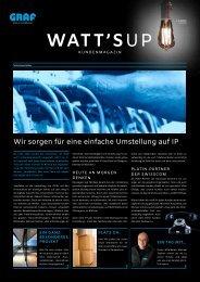 Watt's up Graf Kundenzeitung Fruehjahr18