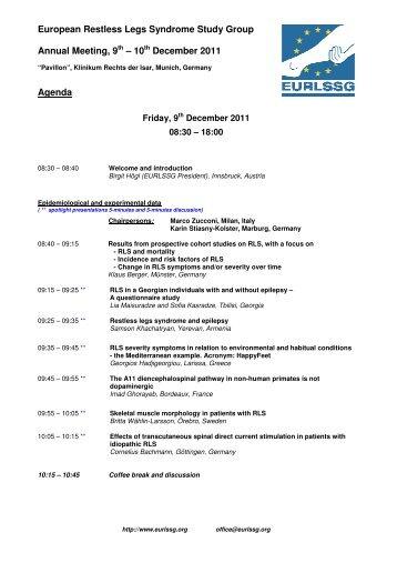 European Restless Legs Syndrome Study Group ... - Eurlssg.org