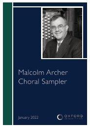 Malcolm Archer sampler