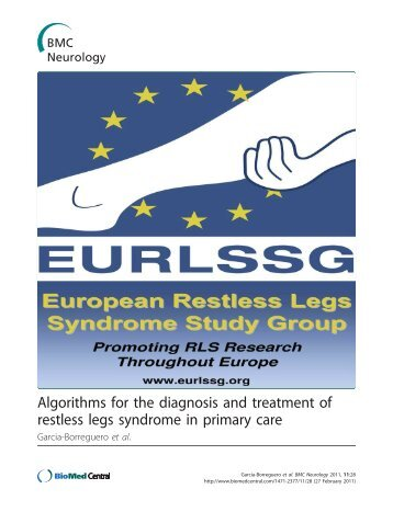 Algorithms for the diagnosis and treatment of restless legs syndrome ...