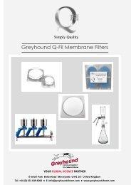 Greyhound Q-Fil Membrane Filters Catalogue 2020