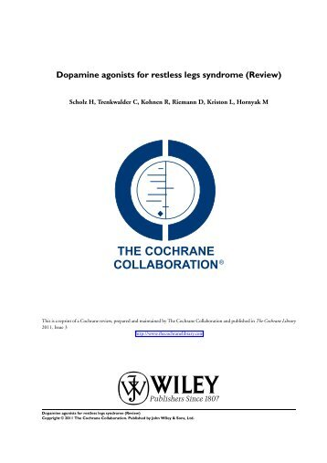 Dopamine agonists for restless legs syndrome - Update Software