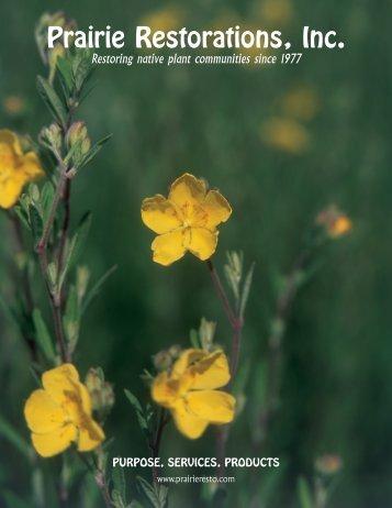 products - Prairie Restorations, Inc.