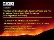 The Role of Small Animals, Invasive Plants - Desert Managers ...