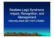 Restless Legs Syndrome: Restless Legs Syndrome