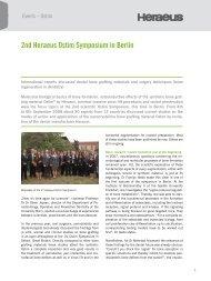 2nd Heraeus Ostim Symposium in Berlin - Heraeus Dental
