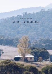 2020 Artist in residence program review 2006 - 2020