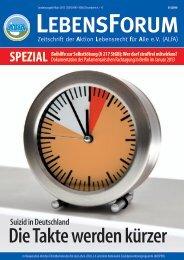 ALfA e.V. Magazin – LebensForum Sonderausgabe 2013