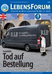 ALfA e.V. Magazin – LebensForum | 101 1/2012