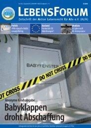 ALfA e.V. Magazin – LebensForum | 102 2/2012
