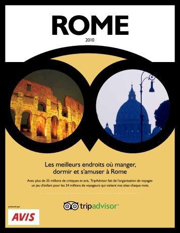Les meilleurs endroits où manger, dormir et s'amuser à Rome - Avis