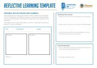 Reflective Learning Template Form