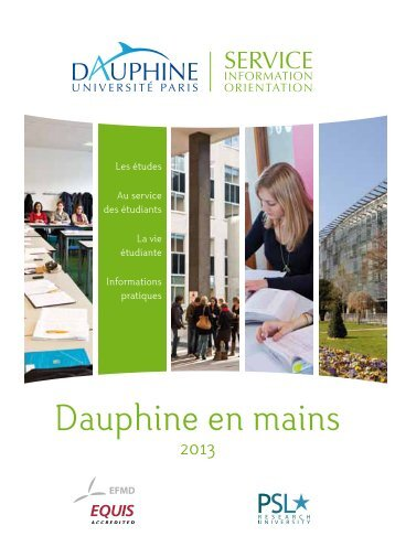 Dauphine en mains - Université Paris-Dauphine