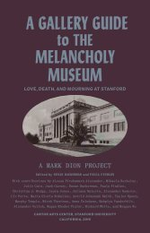 Gallery Guide | The Melancholy Museum