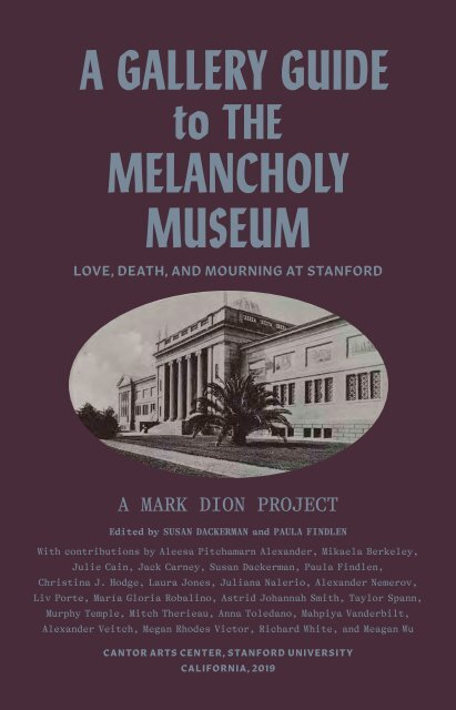 Gallery Guide   The Melancholy Museum