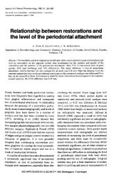 Relationship between restorations and the level of the periodontal ...