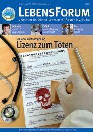 ALfA e.V. Magazin – LebensForum   103 3/2012