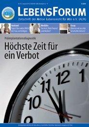 ALfA e.V. Magazin – LebensForum | 97 1/2011