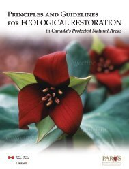 Principles and Guidelines for Ecological Restoration ... - Parcs Canada