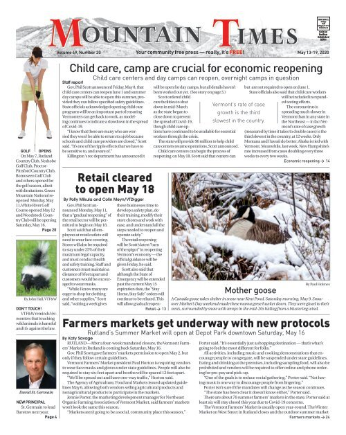 Mountain Times - Volume 49, Number 20 - May 13-19, 2020
