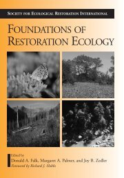 FOUNDATIONS OF RESTORATION ECOLOGY - Inecol