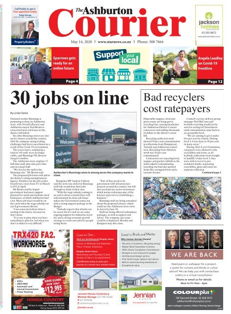 Ashburton Courier: May 14, 2020