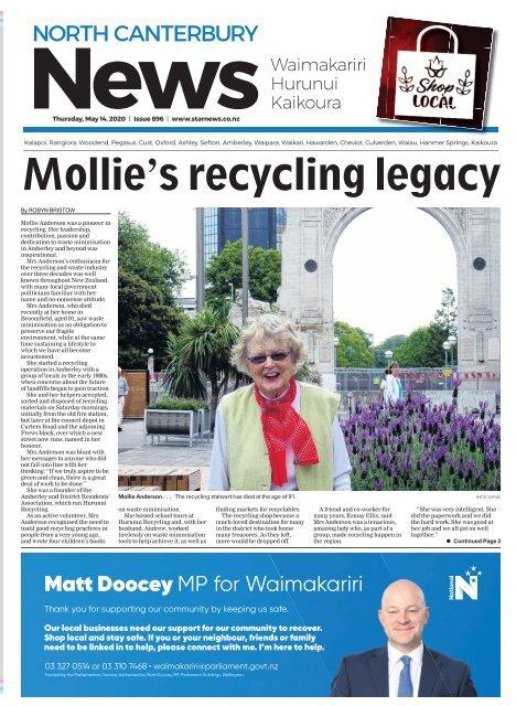 North Canterbury News: May 14, 2020