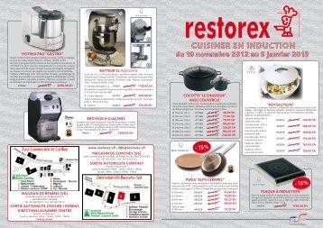 cuisiner en induction du 19 novembre 2012 au 5 janvier ... - Restorex