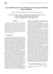 Spectral-Differential Feature Matching and Clustering for Multi ... - MVA