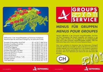 GROUPS SERVICE - Restoroute Motel de la Gruyère