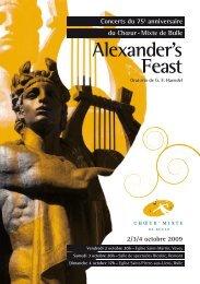Alexander's Feast - Choeur mixte de Bulle