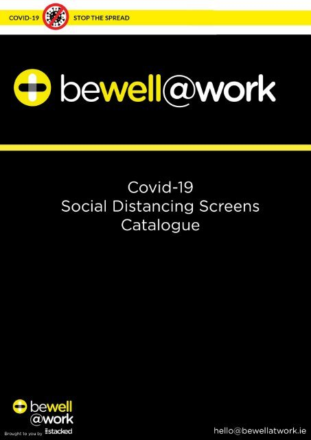 Be Well At Work Covid-19 Social Distancing Screen Catalogue