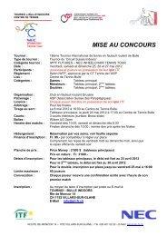 MISE AU CONCOURS - RTCA Rollstuhl-Tennis Club Aargau