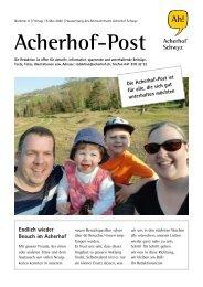 Acherhof-Post Nr. 8   15. Mai 2020
