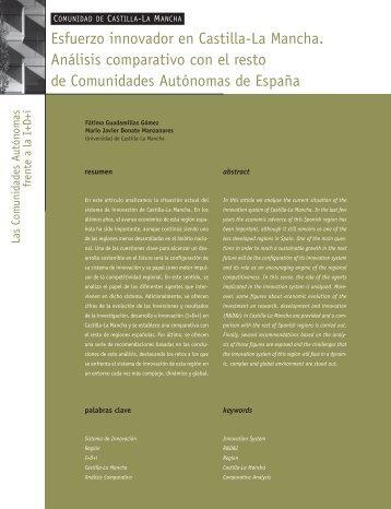 Esfuerzo innovador en Castilla-La Mancha.Análisis ... - Madri+d