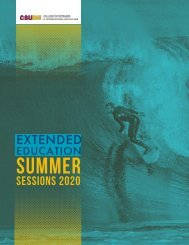 CSUDH Summer Sessions 2020 Bulletin