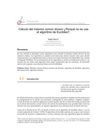 1.5 Algoritmo de Euclides con menor resto. - TEC-Digital