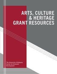 Arts, Culture, & Heritage Grant Resources