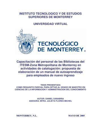 INSTITUTO TECNOLOGICO Y DE ESTUDIOS SUPERIORES ... - E-Lis