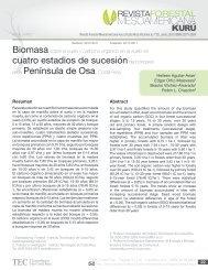 Biomasa sobre el suelo y carbono orgánico en - TEC