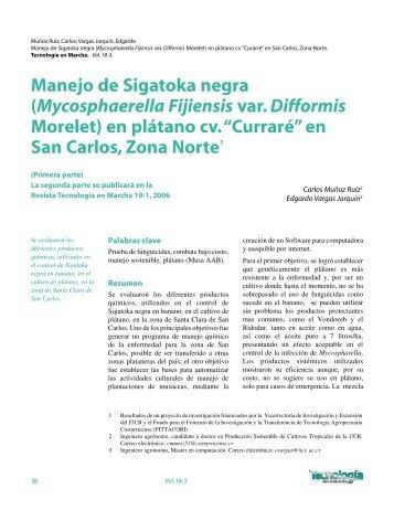 Manejo de Sigatoka negra (Mycosphaerella Fijiensis var ... - TEC