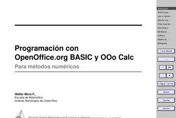 Programación con OpenOffice.org BASIC y OOo Calc - TEC-Digital