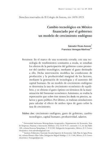 Cambio tecnológico en México financiado por el gobierno ... - SciELO