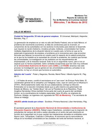 Mar 7, 2012 10:07:14 AM - Tecnológico de Monterrey