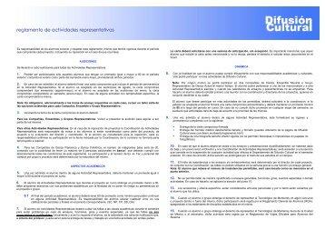 reglamento de actividades representativas - Campus Ciudad de ...