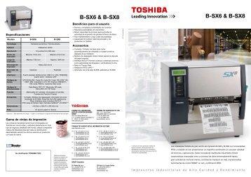 B-SX6 & B-SX8 B-SX6 & B-SX8 - Toshiba Tec
