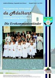 Die Erstkommunionkinder - Marktgemeinde Allhartsberg